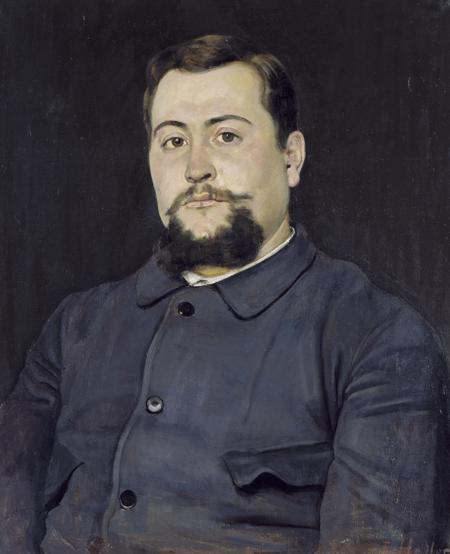 Hodler Ferdinand Bildnis eines baertigen Mannes um 1887