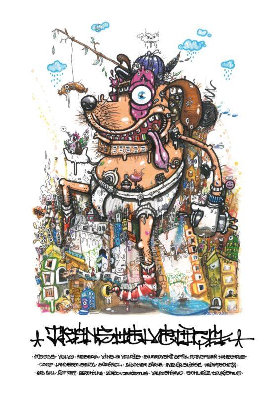 Hund Plakat Transhelvetica