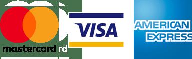 Stripe: Mastercard, Visa, American Express