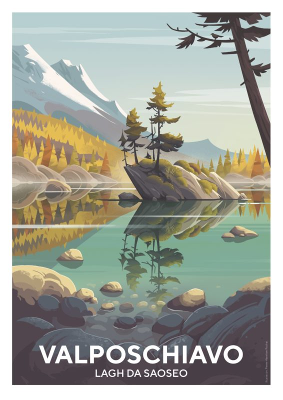 Tourismusplakat Valposchiavo Saoseosee