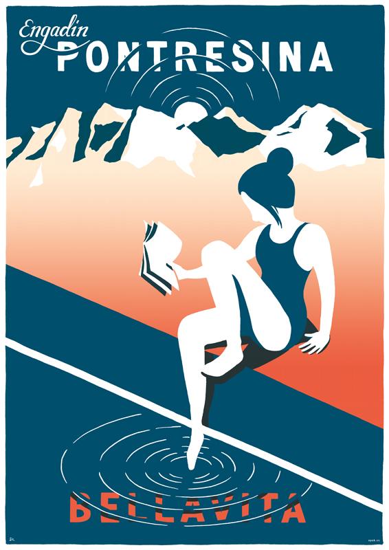Tourismusplakat Pontresina 2020